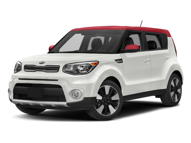 new Clear White 2018 Kia Soul + with Gray Interior located in Adair